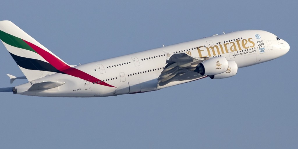 Emirates A380 by M. Visser